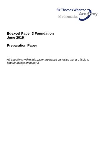 Edexcel GCSE Paper 3 Preparation Revision Foundation