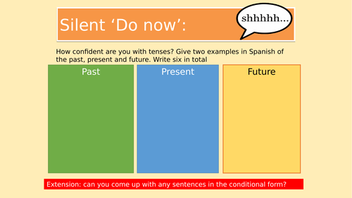 Easy Spanish verb conjugation for year 9s, 10s and 11s.