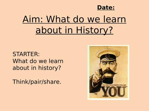 Year 7 Introduction Skills / Chronology