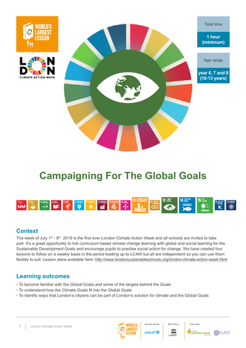 London Climate Action Week - Campaigning for the Global Goals