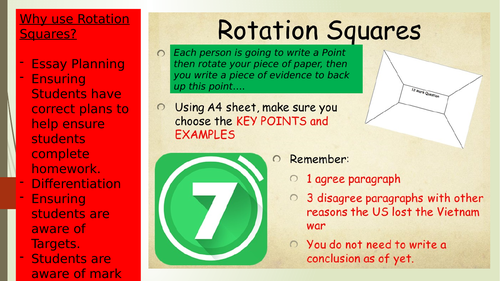 Presentation on the benefit of Rotation Sq