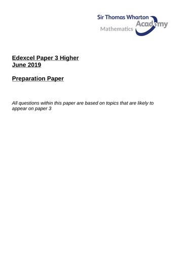 Edexcel GCSE Paper 3 Preparation Revision Paper H
