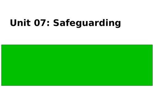 OCR Cambridge Technical Level 3: Unit 7 - Safeguarding - LO1