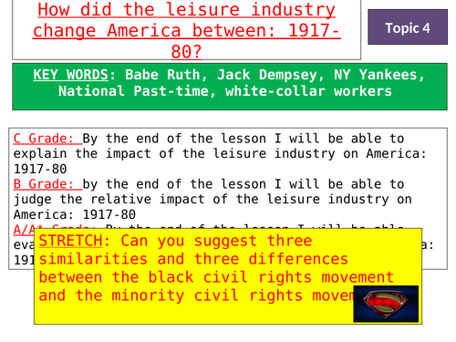 Lesson 7 - How did the leisure industry change America