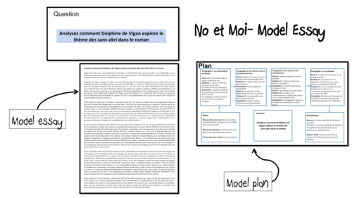 No et Moi- Model Essay and Plan- Thème des SDF- A Level French