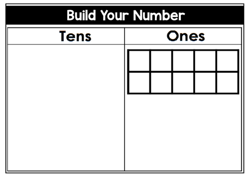 Place Value Tens and Ones Place Mat