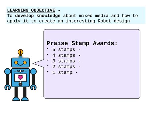 KS3 Art & Design Mixed Media ROBOTS Theme Resources