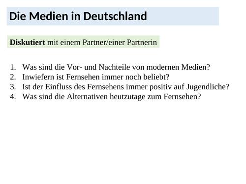 New German A-Level: Die Medien