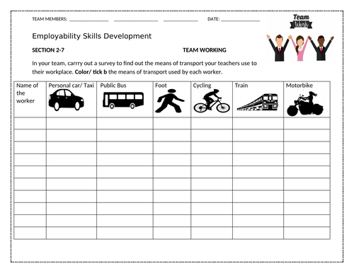 Group Work Activity Worksheet For Learners To Practice Teamwork Skills Teaching Resources