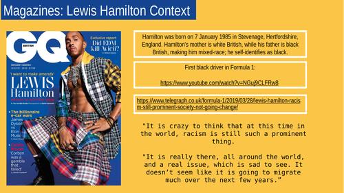 Eduqas Media GQ 2021: Lewis Hamilton