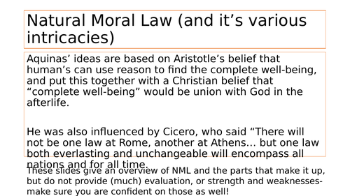 Overview of Natural Moral Law