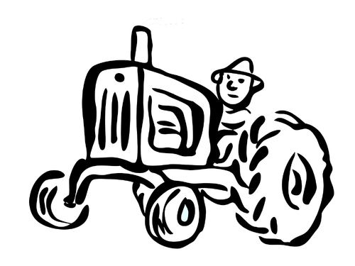 Tractor Coloring Pack