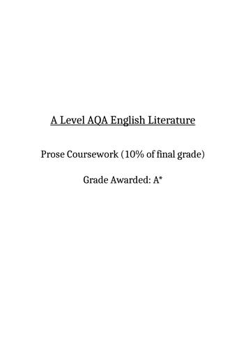 A Level English Lit Prose Coursework