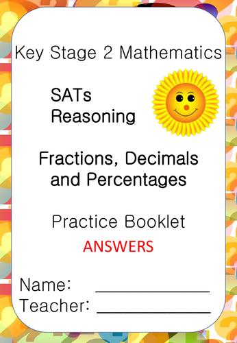 SATs Reasoning Booklet Fractions/Decimals/Percentages