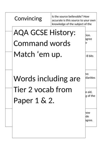 AQA GCSE History - Command words