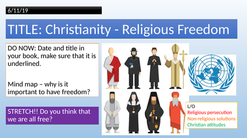 AQA RS Spec A - Christianity: Religious Freedom