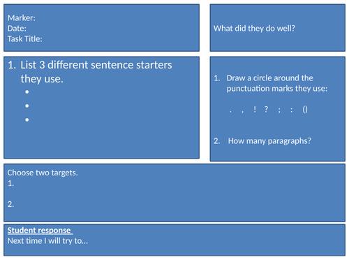 Peer Assessment For Creative Writing