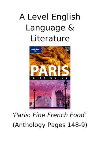 Paris Anthology - spoken language and transcript texts
