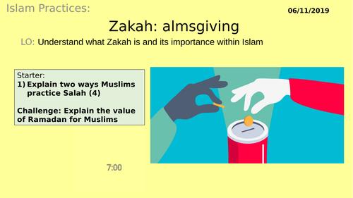 AQA GCSE RE RS - Islam Practices L4 - Zakah - Charity