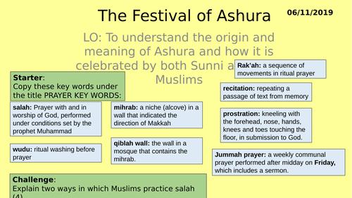 AQA GCSE RE RS - Islam Practices L8 - Ashura