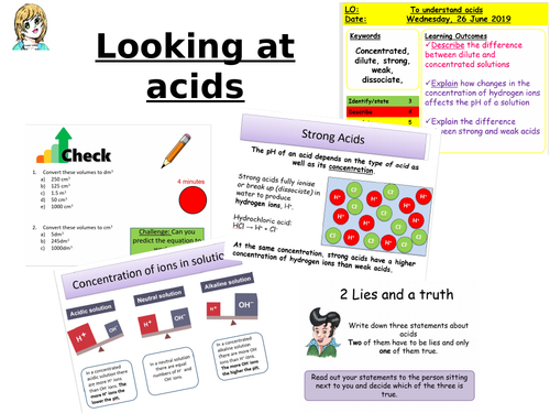 CC8b Looking at acids (Higher)