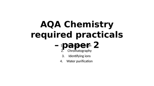 AQA Chemistry required practicals - paper 2