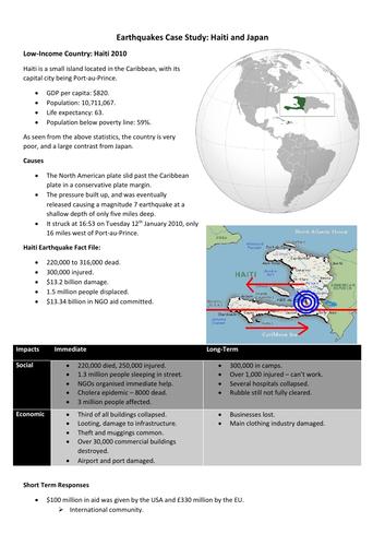 GCSE Geography - Haiti and Japan case study