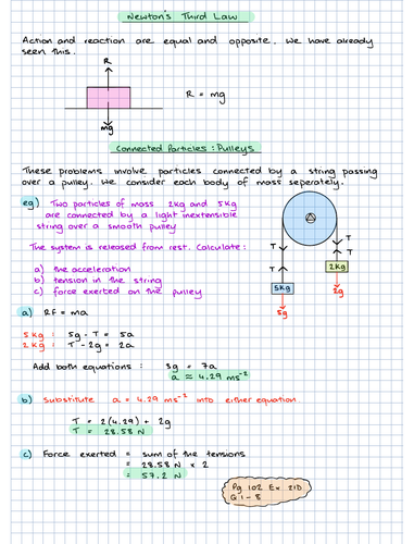 GCSE Further Maths: Connected Particles