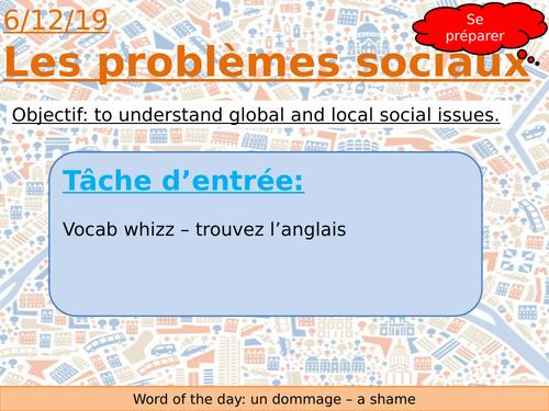 AQA French - Social Problems