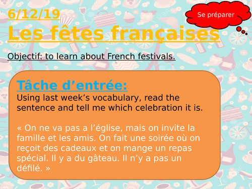 French Festivals/Celebrations