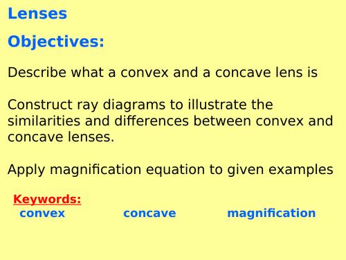 AQA P6.9 (Physics spec 4.6 - exams 2018) - Lenses (TRIPLE ONLY)