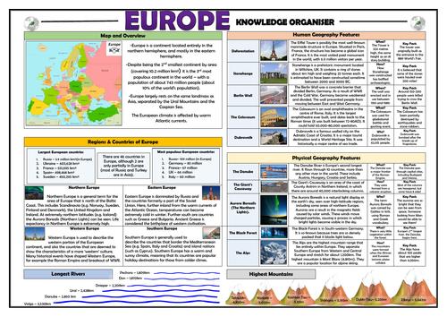 Europe Knowledge Organiser/ Revision Mat!