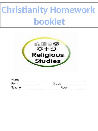 Homework booklet Religious Studies