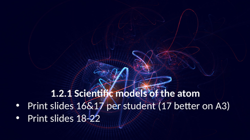 1.2.1 Scientific models of the atom (AQA 9-1 Synergy)