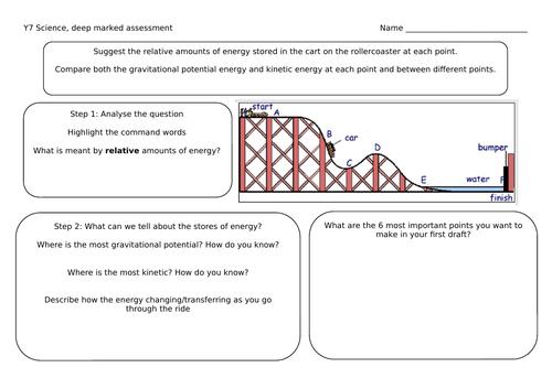 Energy transfer written task KS3