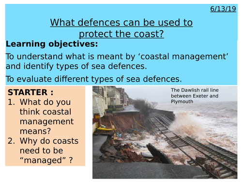 Coasts - What defences can be used to protect the coast ?