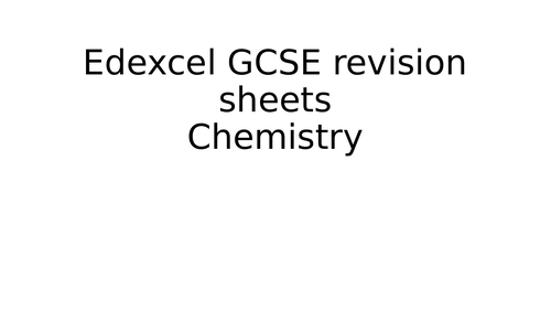 GCSE Chemistry C1 and C2