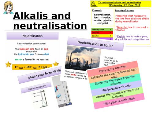 CC8e Alkalis and neutralisation