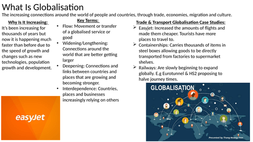 Edexcel A Level Geography: Globalisation Revision/Flashcards