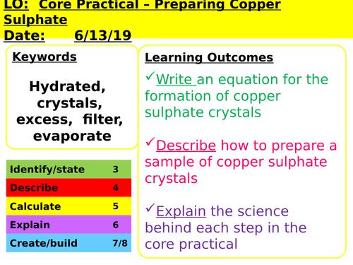 CC8c Preparing Copper Sulfate Crystals