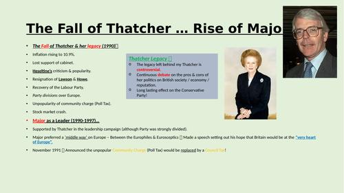 The fall of Thatcher & John Major