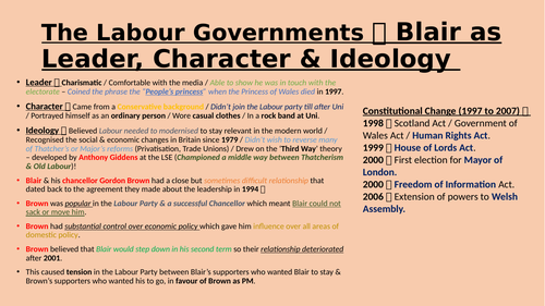 The Labour Government Post John Major (1997 to 2007)