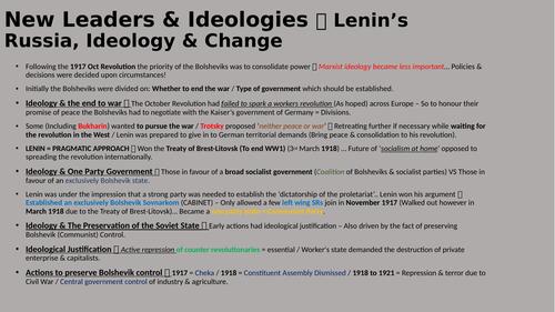 Communist Dictatorship (Lenin - Emergence of Stalin...)