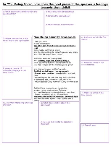 4 Unseen Poetry Practice Worksheets