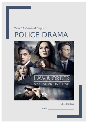 Television Media (Police Drama) Unit of Work