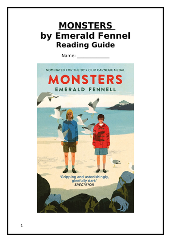 Monsters By Emerald Fennel Reading Guide