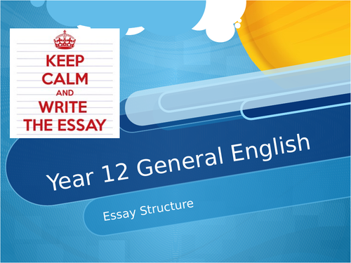 Year 12 General English EST Resource Pack