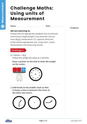 Choosing Units of Measurement: Y2 – Measurement – Maths Challenge