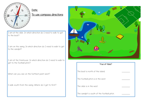 KS1 compass directions