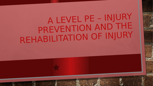 OCR H555 Presentation and resources for injuries